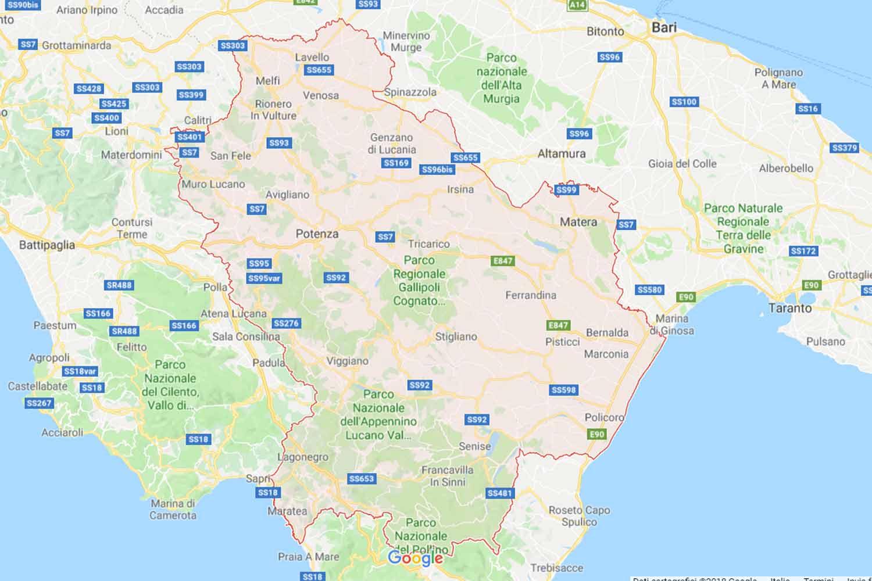 Basilicata - Potenza - Castelsaraceno Preventivi Veloci google maps