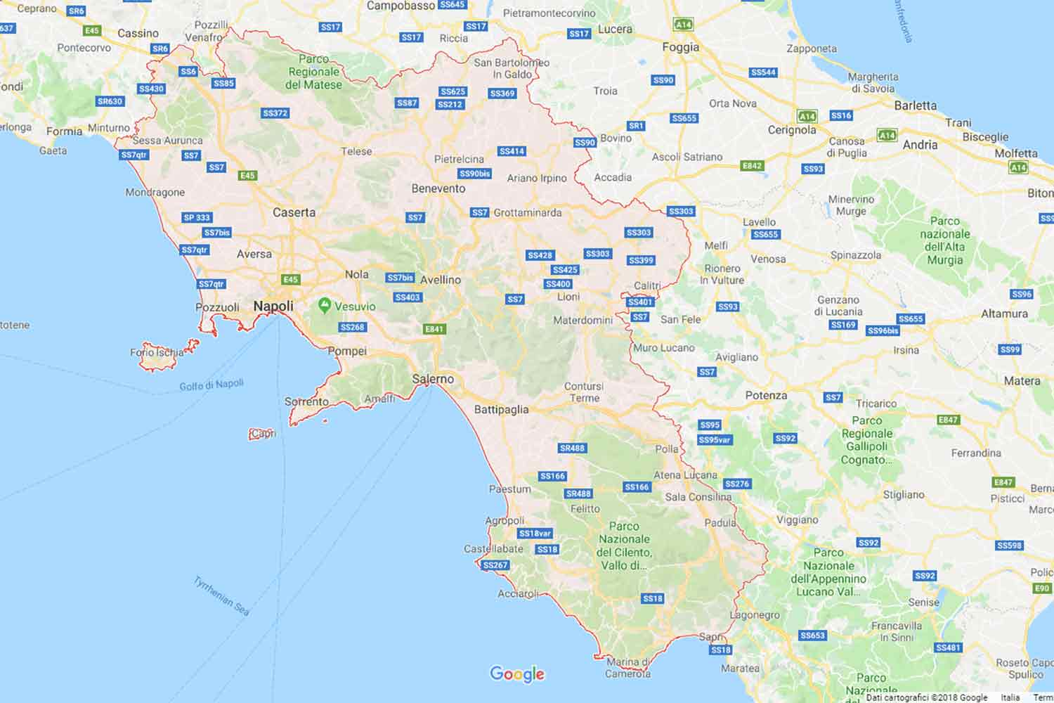 Campania - Salerno - Battipaglia Preventivi Veloci google maps