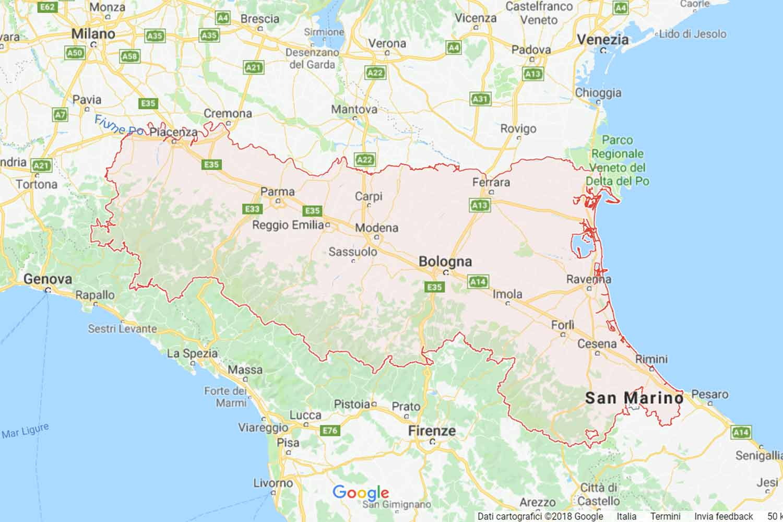 Emilia Romagna - Ferrara - Lagosanto Preventivi Veloci google maps