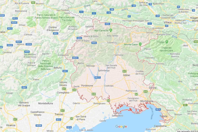 Friuli - Udine - Ronchis Preventivi Veloci google maps