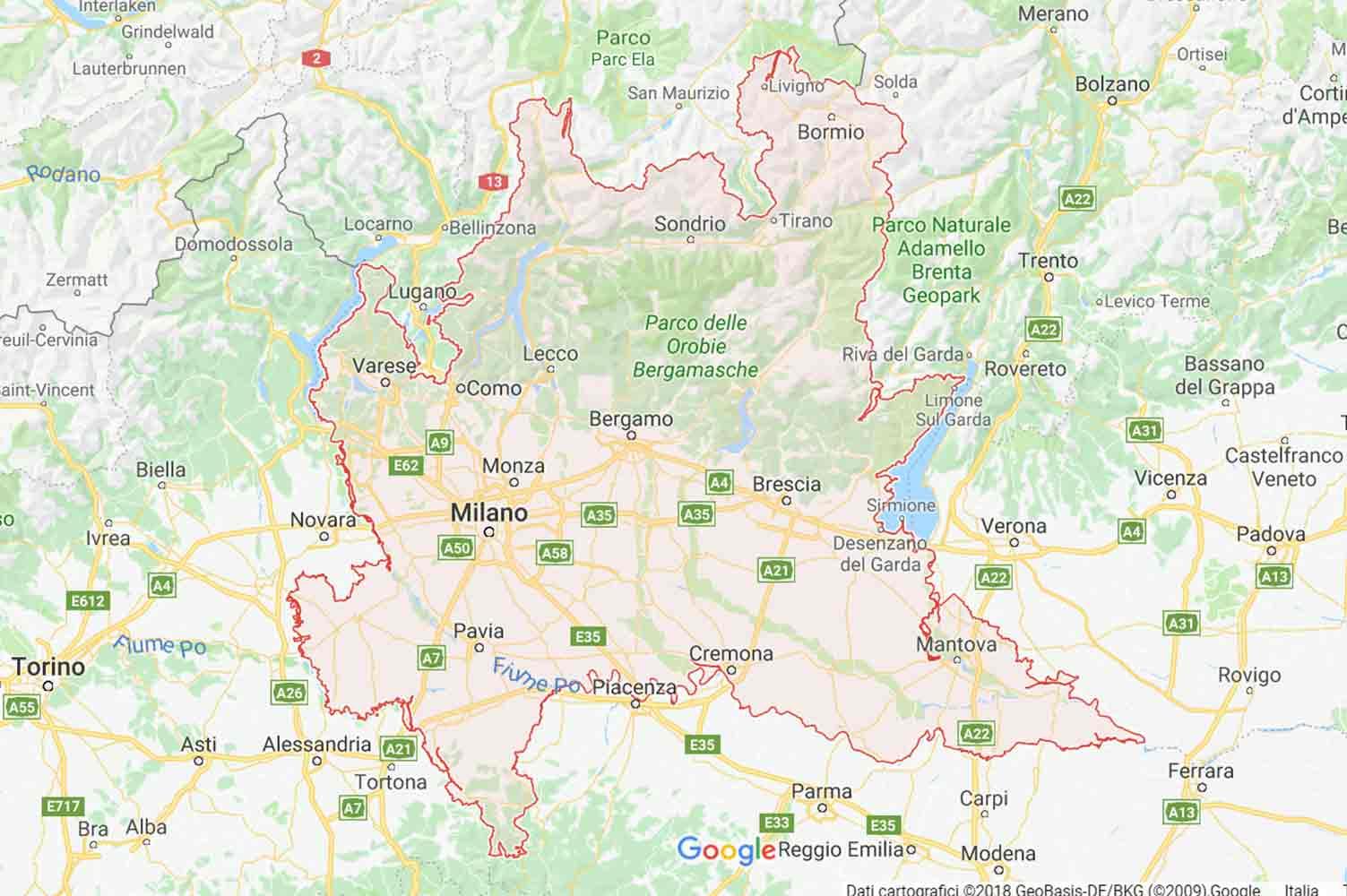 Lombardia - Bergamo - Serina Preventivi Veloci google maps