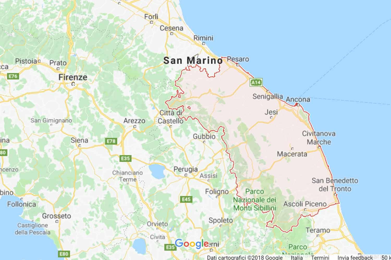 Marche - Pesaro Urbino - Fossombrone Preventivi Veloci google maps